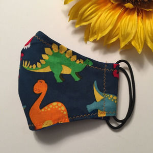 Kids Face Mask Dinosaurs Print Ages 2-6